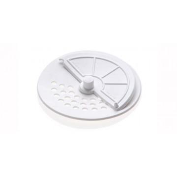 Bouchon d'évier souple blanc à demi filtre - Diamètre 95 mm