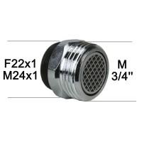 """Aérateur Adaptateur Robinet - Laiton Chromé - F22x100 à M3/4"""" - Ecoperl"""