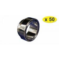 Lot de 50 Bagues robinet Antivol Mâle - Chrome - M24x100