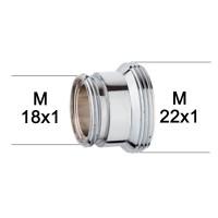 Adaptateur raccord Laiton - M18x100 à M22x100 - série haute