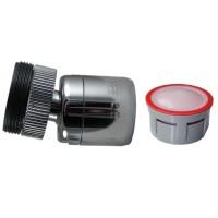 Mousseur Anticalcaire  - 4,5 litres/min. - Rotule 360° Laiton - 22x100 Femelle + Adaptateur M24