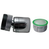 Mousseur 6 litres/min. Anticalcaire - Rotule 360° Laiton - 22x100 Femelle + Adaptateur M24