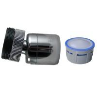 Mousseur 8 litres/min. Anticalcaire - Rotule 360° Laiton - 22x100 Femelle + Adaptateur M24