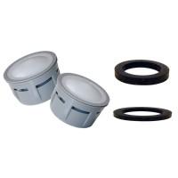 2 x Mousseurs aérateur 10 litres F22/M24 - Eco 30% - Recharge - Anticalcaire