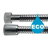 """Flexible douche Eco métal 1,75 m - Double Agrafage """" STEELEX """" - Ecrous Laiton"""