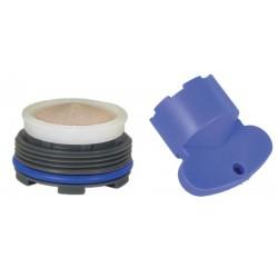 Mousseur INVISIBLE 6 litres M24x100 + Clef - Filetage intégré - Anticalcaire