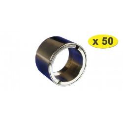 Lot de 50 Bagues robinet Antivol Femelle - Chrome - F22x100