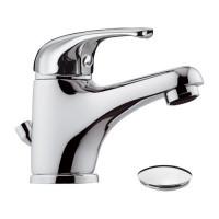 Mitigeur de lavabo chrome avec vidage - Corps en laiton - 8 litres/minute NF - ECOPERL