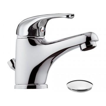 Mitigeur de lavabo Eco avec vidage - Corps en laiton - 8 litres/minute NF