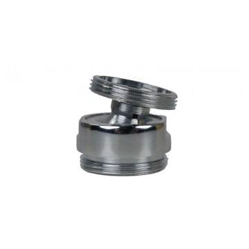 Rotule aérateur M15x21 Chrome orientable 360° - M22 - Laiton