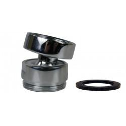 Rotule aérateur F24x100 Chrome orientable 360° - M22 - Laiton
