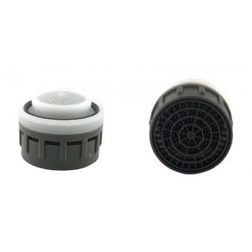 Mousseur régulateur 7 litres/min. O'ring - Aéré - Anticalcaire - 22/24x100 Recharge