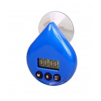 Minuteur compte à rebours de douche en forme de goutte à ventouse - bleu ou blanc