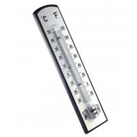 Thermomètre interieur en bois grand modèle fond blanc - temp. de -30° à +50° C
