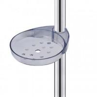 Porte savon acrylique translucide - barre de Douche Ø 18 mm