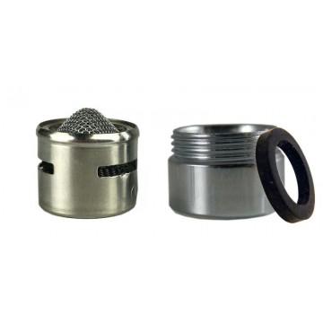Mousseur Inox Junior M18x100 - 12 litres - Eco 20% - Aéré - Bague Mâle