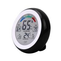 Thermometre / Hygromètre Electronique 10 fonctions - Temp. de -0° à +50°C - Humidité 20 à 95%RH - Noir