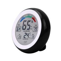 Thermometre / Hygromètre Digital 10 fonctions - Temp. de -0° à +50°C - Humidité 20 à 95%RH - Noir