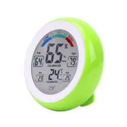 Thermomètre / Hygromètre Digital 10 fonctions - Temp. de -0° à +50°C - Humidité 20 à 95%RH - Vert