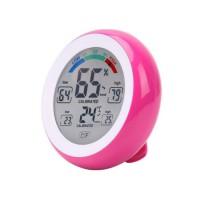 Thermomètre / Hygromètre Digital 10 fonctions - Temp. de -0° à +50°C - Humidité 20 à 95%RH - Rose